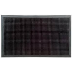 Rubber Stud Black 30 in. x 18 in. Rubber Door Mat