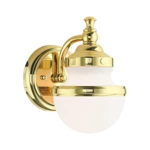 Oldwick 1 Light Polished Brass Sconce