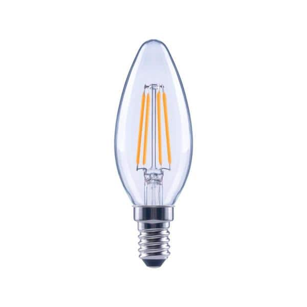Ecosmart 60 Watt Equivalent B11 Dimmable Energy Star Clear Glass Filament Vintage Edison Led Light Bulb In Daylight 3 Pack Fg 03266 The Home Depot