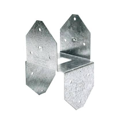 BCS ZMAX Galvanized Post Cap/Base for Double 2x Beam, 4x Post