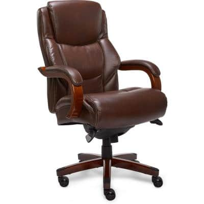 Delano Chestnut Brown Bonded Leather Executive Office Chair