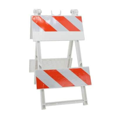 8/8 in. Sheet Plastic Type II Folding Barricade