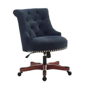 Sinclair 26 in. W Dark Blue Fabric Task Chair with Adjustable Height