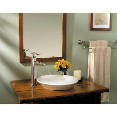 Ashfield Single Hole Single-Handle Vessel Bathroom Faucet in Brushed Nickel
