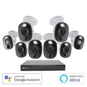 DVR-5580 16-Channel 4K 2TB Security Camera System with Eight 4K Wired Bullet Cameras