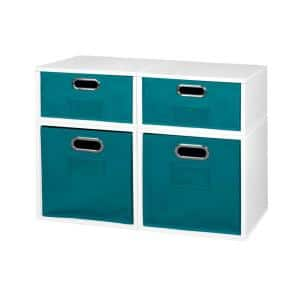 Regency 26 In H X 13 In W X 13 In D White Wood 3 Cube Storage Organizer Hdchpc1f2hwhhtl The Home Depot