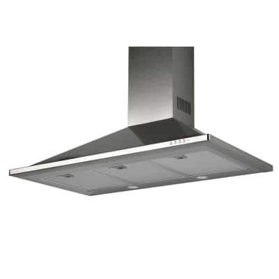 36 in. Trapezoid Design Wall Hood Stainless Steel with 600 CFM Downdraft
