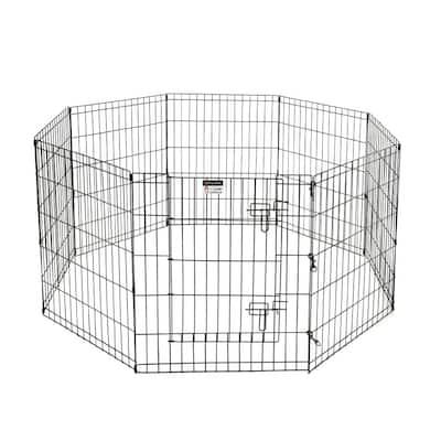 High 8-Panel Heavy Gauge Wire Convertible Indoor/Outdoor Pet Playpen