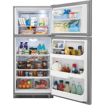 20.4 cu. ft. Top Freezer Refrigerator in Smudge Proof Stainless Steel