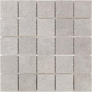 Ritsos Dark Gray 11.81 in. x 11.81 in. Matte Porcelain Floor and Wall Mosaic Tile (0.97 Sq. Ft. /Each)