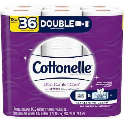 Ultra ComfortCare Double-Rolls Toilet Paper (142-Sheets per Roll 18-Rolls per Pack)