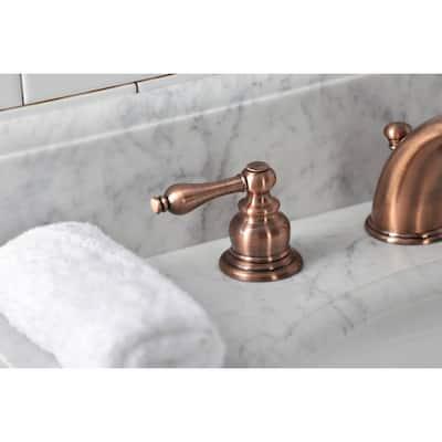 Victorian 8 in. Widespread 2-Handle Bathroom Faucet in Antique Copper