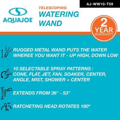 53 in. 10-Pattern Telescoping Watering Wand