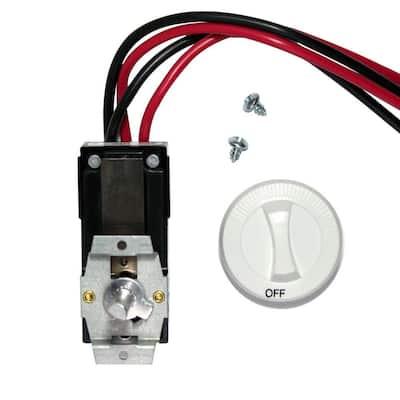 Com-Pak Series White Integral Double-Pole 22 Amp Thermostat Kit