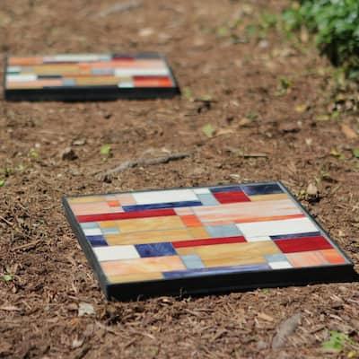 12 in. x 12 in. Geoblock Decorative Garden Stone