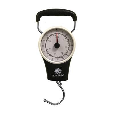 Analog Black Luggage Scale with Hook