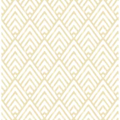 Vertex Gold Diamond Geometric Paper Strippable Roll (Covers 56.4 sq. ft.)