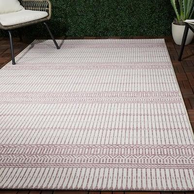 Briem Purple 8 ft. x 10 ft. Flatweave Indoor/Outdoor Area Rug
