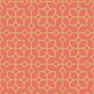 Maze Orange Tile Orange Wallpaper Sample