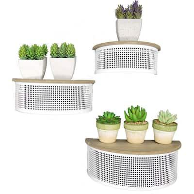 Floating 3-Tier Wall Wood Shelves for Bedroom, Living Room, Kitchen