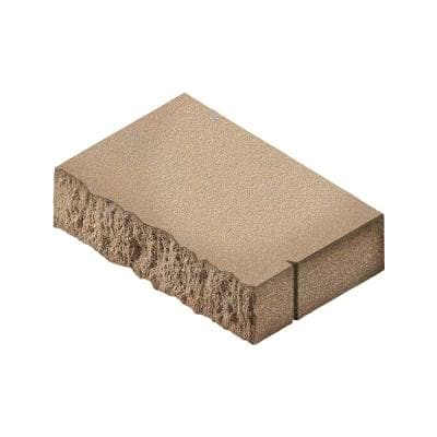3 in. H x 18 in. W x 13.5 in. L Sandstone Rectangular Concrete Wall Cap (48-Pieces/ 72 ln. ft./ Pallet)