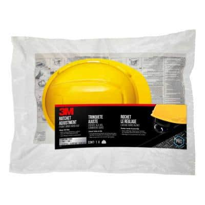 Yellow Non-Vented Hard Hat with Ratchet Adjustment