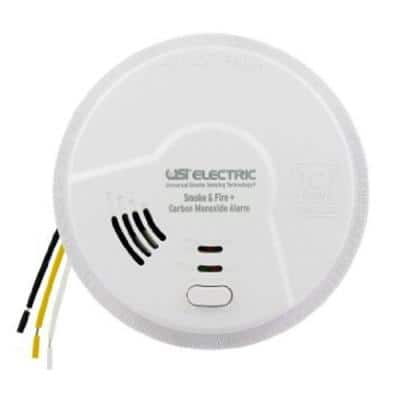 10-Year Sealed, Hardwired, 3-in-1 Smoke, Fire and Carbon Monoxide Detector, Battery Backup, Microprocessor Intelligence