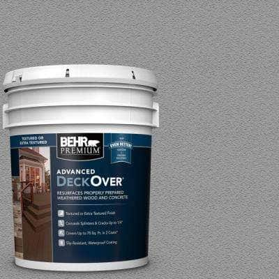 5 gal. #SC-143 Harbor Gray Textured Solid Color Exterior Wood and Concrete Coating