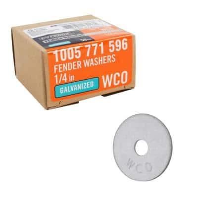 1/4 in. x 1-1/4 in. Fender Washers GALV (50-Piece)