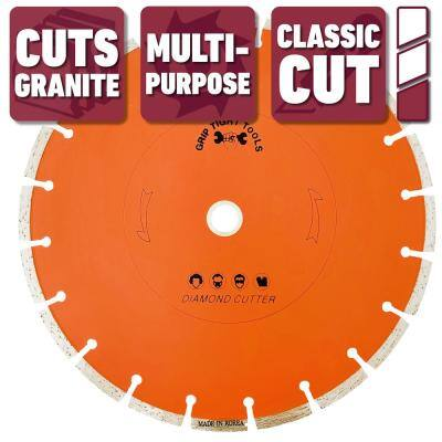 10 in. Classic Segmented Cut Diamond Blade for Cutting Granite, Marble, Concrete, Stone, Brick and Masonry (3-Pack)