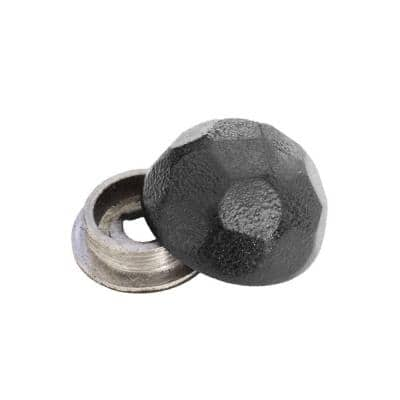 OWT (Ornamental Wood Ties) Hammered Dome Cap Nut Screw Cover (10-Pack)