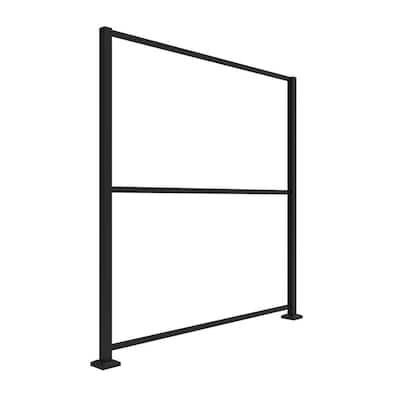 3 ft. x 6 ft. Decorative Screen Panel Matte Black Aluminum Decorative Screen Frame Kit