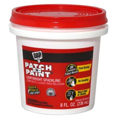 Patch-N-Paint 8 oz. White Premium-Grade Lightweight Spackling Paste