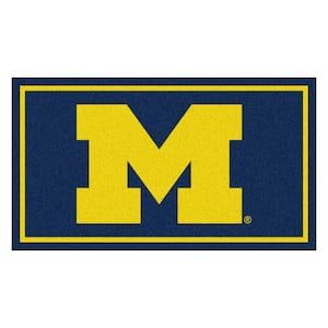 NCAA University of Michigan 3 ft. x 5 ft. Ultra Plush Area Rug