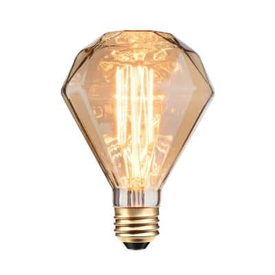 40W Amber Designer Vintage Edison Diamante Incandescent Light Bulb