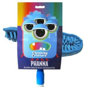 Cleaning Critters Phanna Microfiber Ceiling Fan Duster with Extension Pole