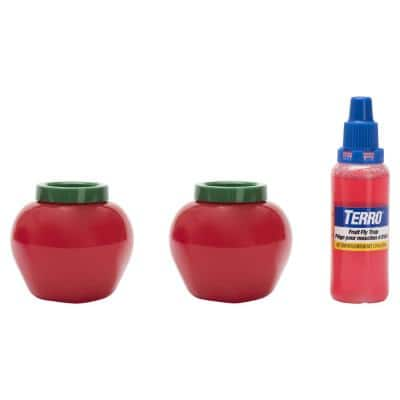 Fruit Fly Trap with Bait (2-Pack)