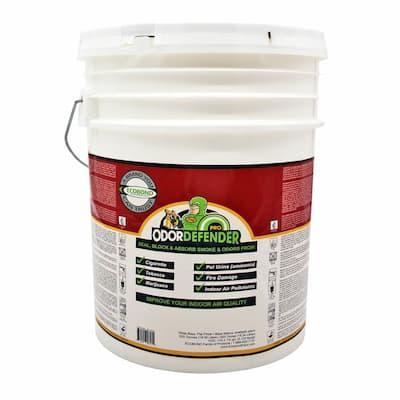 OdorDefender, 5-Gal. Off White Flat Smoke Eliminator & Odor Blocking Paint