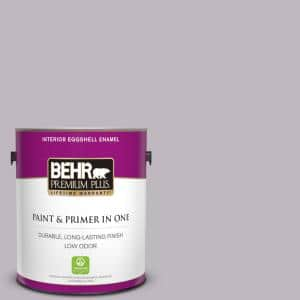 Behr Premium Plus 1 Gal N570 2 Standing Ovation Eggshell Enamel Low Odor Interior Paint And Primer In One 240001 The Home Depot