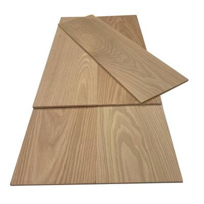 1/4 in. x 8 in. x 4 ft. Red Oak S4S Hobby Board (5-Pack)