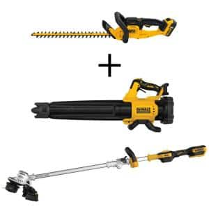 22 in. 20V MAX Lithium-Ion Cordless Hedge Trimmer Kit w/ 20V Cordless Blower & Brushless String Trimmer (Tools Only)