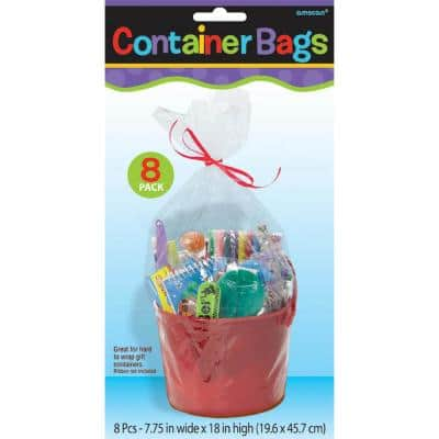 7.75 in. x 18 in. Clear Plastic Container Bags (8-Count, 6-Pack)