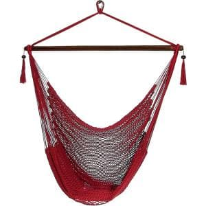 Caribbean 4 ft. X-Large Hammock Chair in Red