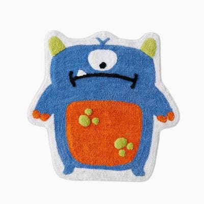 Multi 27 in. x 27 in. Polyester Monsters Bath Rug