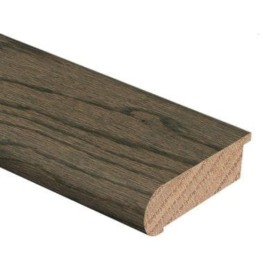 Coastal Gray Oak 3/4 in. Thick x 2-3/4 in. Wide x 94 in. Length Hardwood Stair Nose Molding Flush