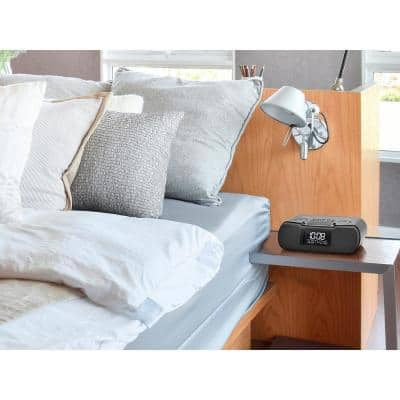 FM/AM/Bluetooth/Aux-in Digital Tuning Clock Radio with USB Charging Port and 27 Ambient Sounds