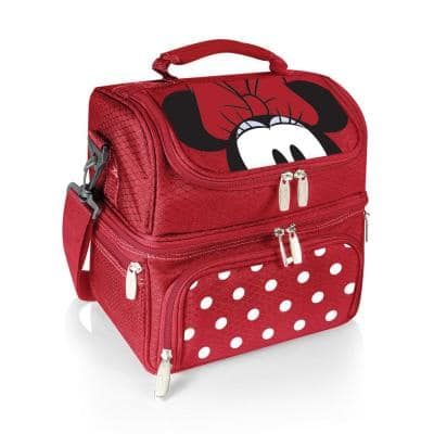 3 Qt. 8-Can Minnie Mouse Pranzo Lunch Tote Cooler in Red