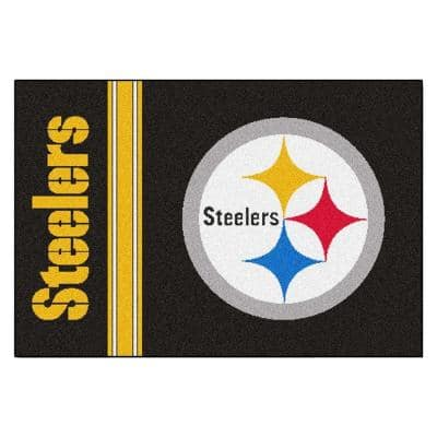 NFL - Pittsburgh Steelers Black Uniform Inspired 2 ft. x 3 ft. Area Rug