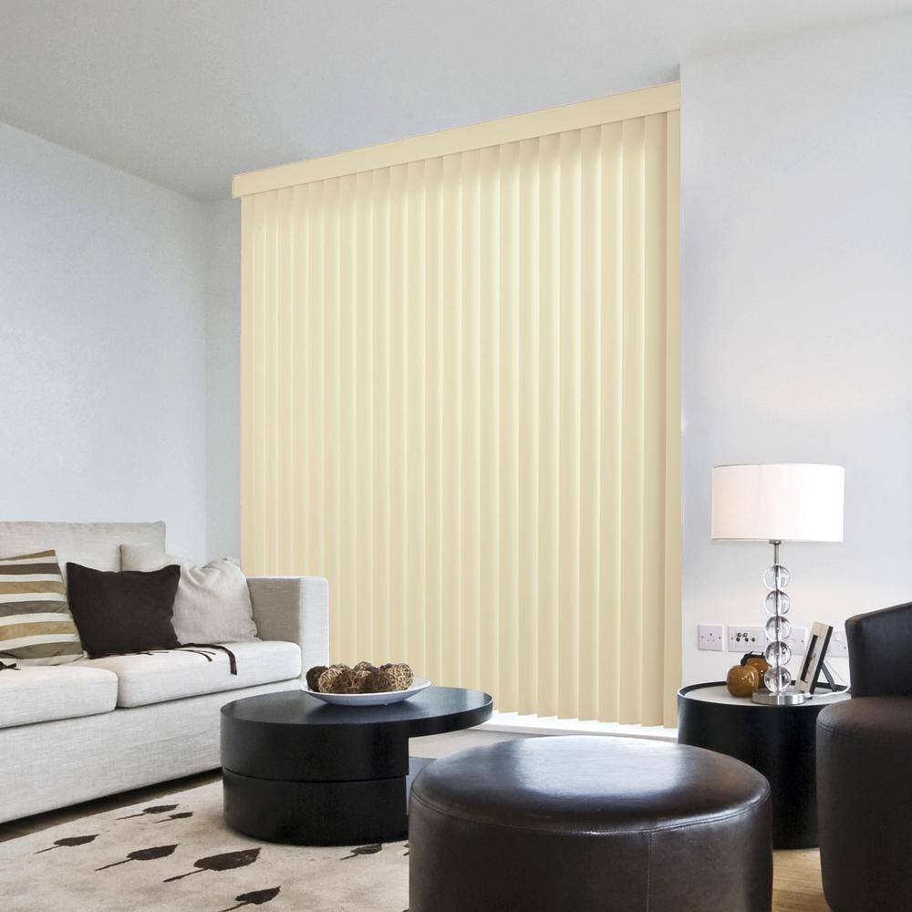 Hampton Bay Crown Alabaster Room Darkening Vertical Blind For Sliding Door Or Window Louver Size 3 5 In W X 62 5 In L 9 Pack 10793478811489 The Home Depot
