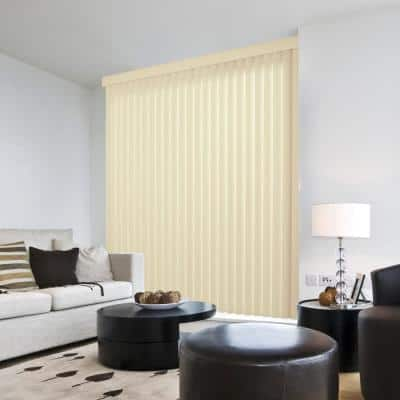 Crown Alabaster Room Darkening Vertical Blind for Sliding Door or Window - Louver Size 3.5 in. W x 63 in. L(9-Pack)
